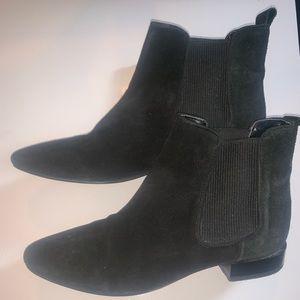 Zara Suede Black Chelsea Boots